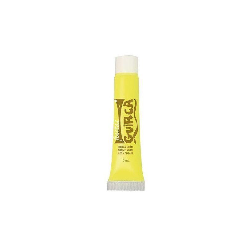 Tube maquillage jaune néon 10 ml Accessoires de fête 15660