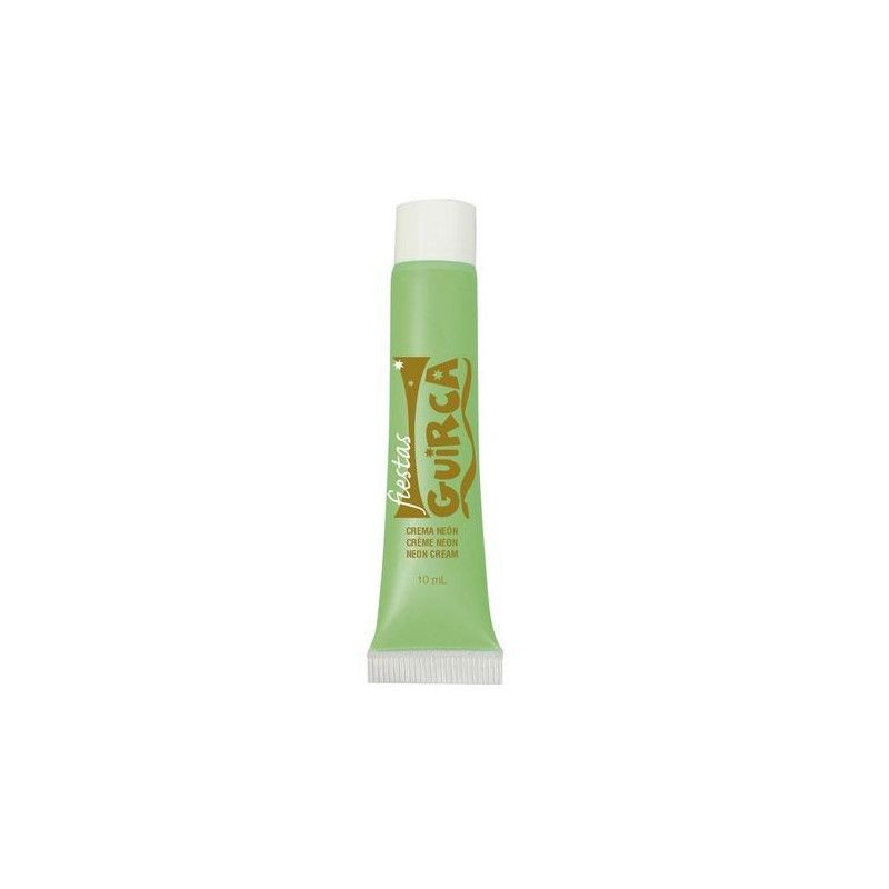 Tube maquillage vert néon 10 ml Accessoires de fête 15661