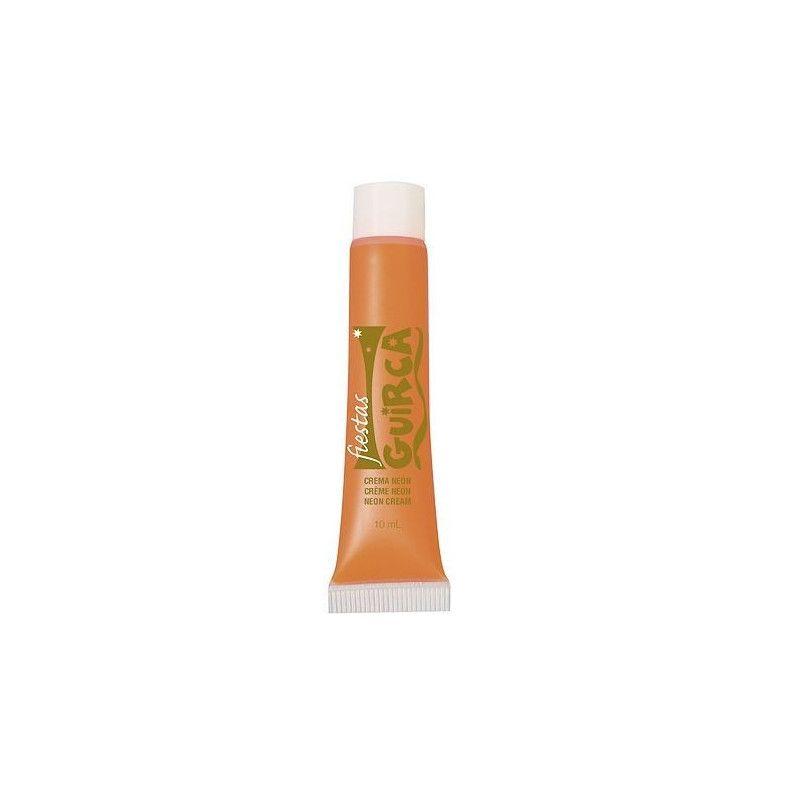 Tube maquillage orange néon 10 ml Accessoires de fête 15662GUIRCA
