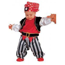Déguisements, Déguisement Pirate baby garçon 6 mois, 53806, 24,90€