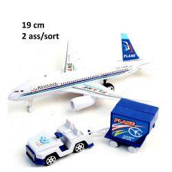 Avion de ligne rétrofriction avec accessoires Jouets et articles kermesse 44896