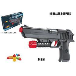 Pistolet lance balles 24 cm avec 10 balles Jouets et kermesse 29022