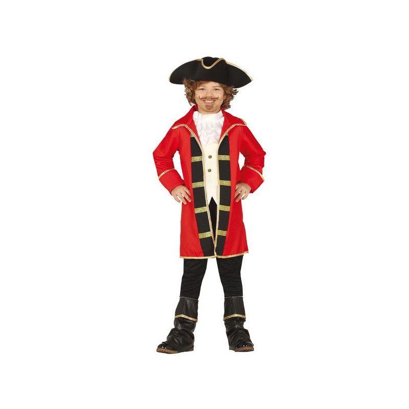 Déguisements, Déguisement pirate rouge et noir garçon 7-9 ans, 88508, 29,90€