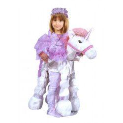 Déguisements, Déguisement princesse rose enfant sur sa licorne, GI007241, 29,90€
