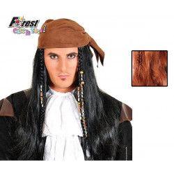 Perruque pirate adulte Accessoires de fête 67838