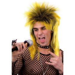 Accessoires de fête, Perruque punk jaune adulte, 02444, 13,50€
