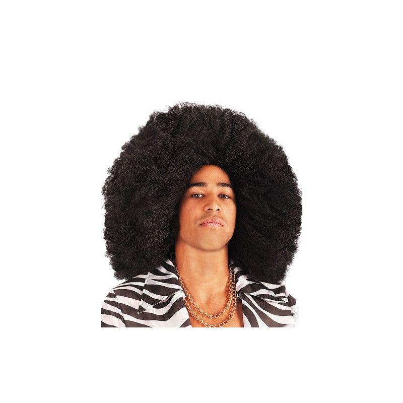 Accessoires de fête, Perruque afro couleur noire 50 cm, 02956, 16,90€