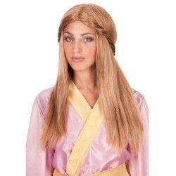 Perruque blonde et longue princesse Accessoires de fête 02313