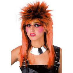 Perruque punk orange adulte Accessoires de fête 02446