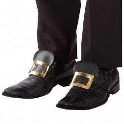 Sur chaussures noires avec boucle homme Accessoires de fête 03801