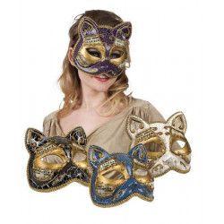 Accessoires de fête, Masque vénitien chat, B00341, 9,90€