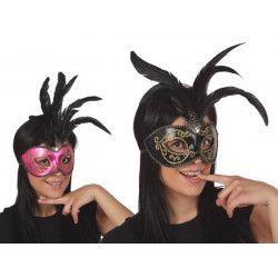 Masque vénitien avec plume Accessoires de fête 95891