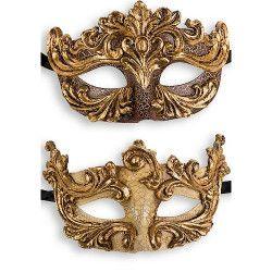 Accessoires de fête, Masque vénitien baroque avec dorures, 00650, 7,90€