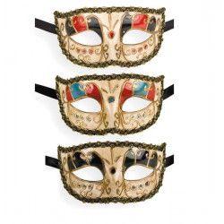 Accessoires de fête, Loup vénitien 3 coloris, 652, 6,90€
