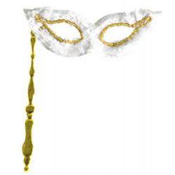 Accessoires de fête, Loup à main avec dentelle, 73297, 2,50€