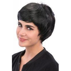 Perruque courte et noire adulte Accessoires de fête 02635