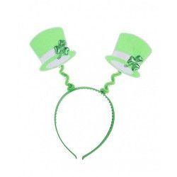 Serre-tête avec chapeaux verts St Patrick Accessoires de fête 04970