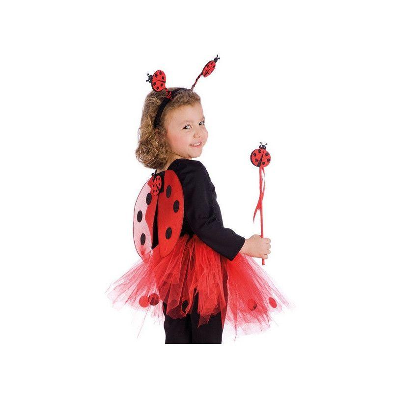 Set coccinelle ailes baguette serre tête enfant Accessoires de fête 06788