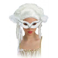 Masque blanc à main Accessoires de fête 1573